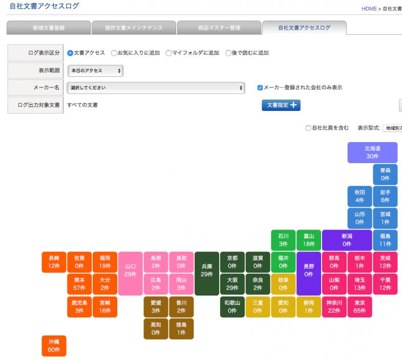 ODMLアクセスログ画面