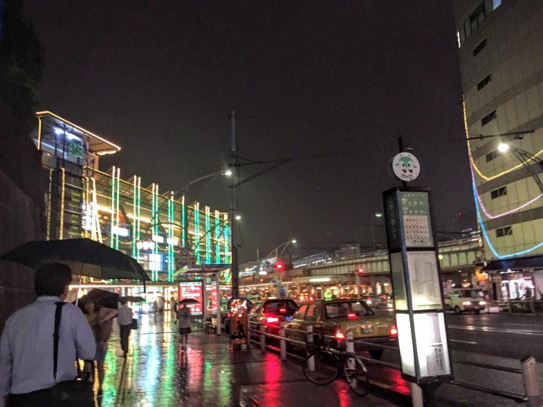 雨の上野駅