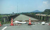 宇城から熊本への移動中まだまだ通行止めが多い